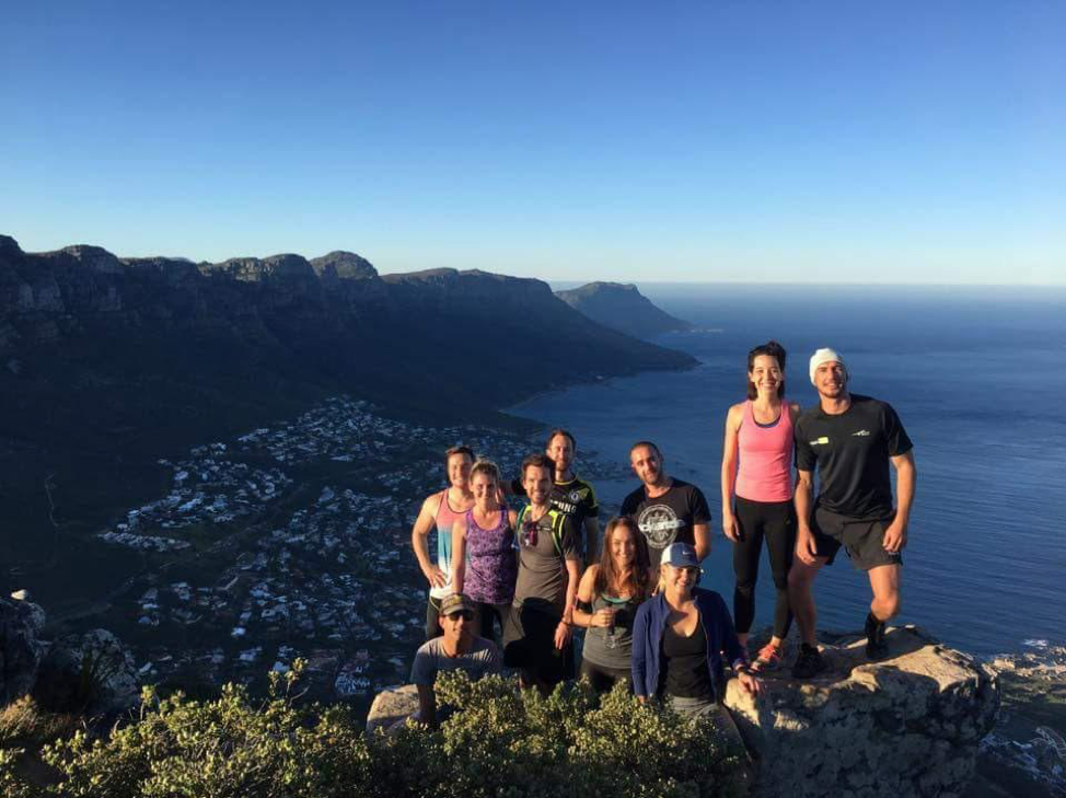 digital nomads on a hike in Cape Town